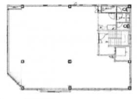 北参道ウイングビル:基準階図面