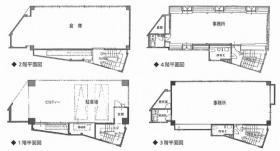 理研コランダム東京営業所:基準階図面