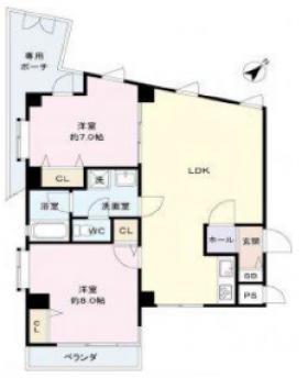 エタニティマンション和田第3ビル:基準階図面