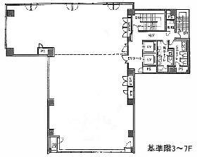 ファーストスクエア五反田:基準階図面