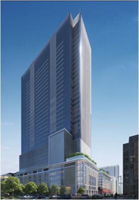日本橋高島屋三井ビルディング(日本橋二丁目再開発C街区)ビルのエントランス