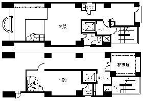 クロスサイド麹町ビル:基準階図面