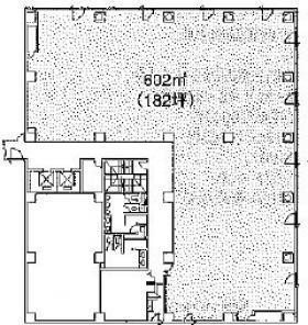 ニッセイ横須賀センタービル:基準階図面