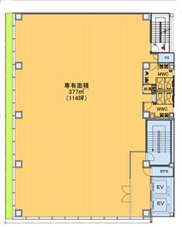 品川サンケイビルの基準階図面