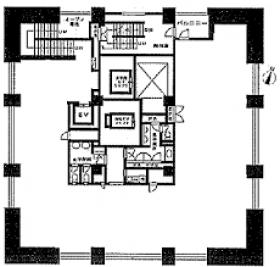 シティタワー九段下ビル:基準階図面