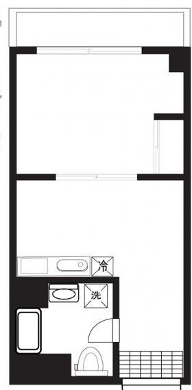 カーサ第二新宿ビル:基準階図面