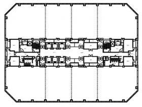 幕張テクノガーデンC棟:基準階図面