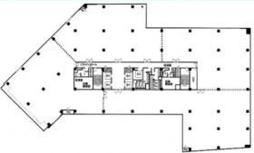 CROSS COOP(クロスコープ)新宿SOUTHビル:基準階図面