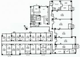 オフィスコート代々木:基準階図面
