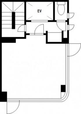 日本橋会館ビルヂング:基準階図面