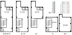 浅草橋一棟ビル:基準階図面