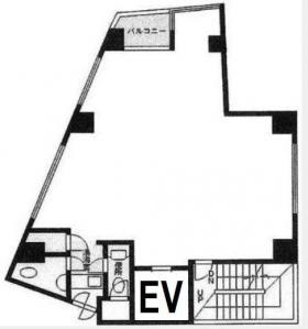 新宿スパイアビル:基準階図面