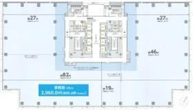 OCEAN GATE MINATO MIRAI:基準階図面