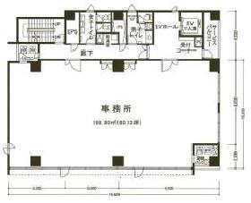 マストライフ南青山ビル:基準階図面