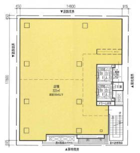 仮)銀座阪急ビルの基準階図面
