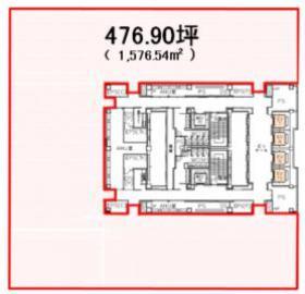 パシフィックセンチュリープレイス丸の内【サービスオフィス】:基準階図面