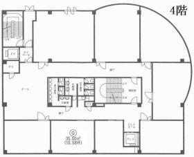 中屋第2ビル:基準階図面