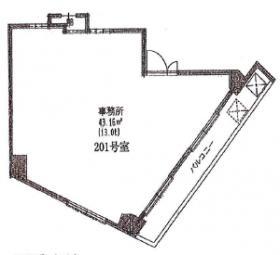 西川ビル:基準階図面