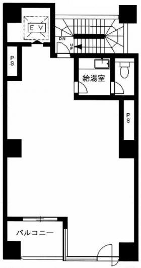 平成新富町ビル:基準階図面