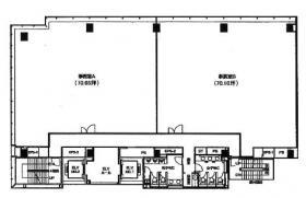 CROSS COOP新宿AVENUEビル:基準階図面