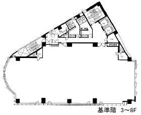 JPRクレスト竹橋ビル:基準階図面
