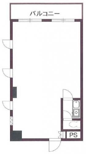 サンサーラ第四御苑ビル:基準階図面