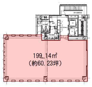 渋谷S.野口Bldg. 4F 60.23坪(199.10m<sup>2</sup>) 図面