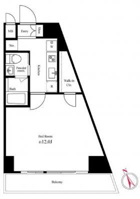 パークスクエア西新宿:基準階図面