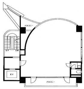 キャッスル安斎ビル:基準階図面