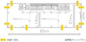 (仮)新橋一丁目計画の基準階図面