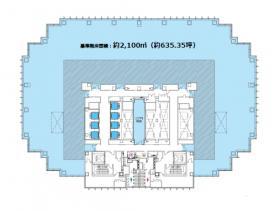 仮)四谷駅前再開発事業:基準階図面