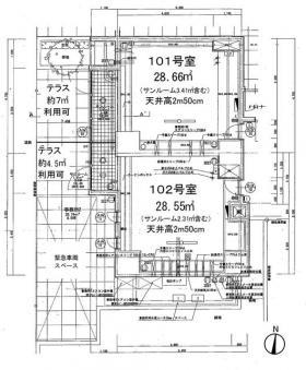 コンシェリア浜松町Ⅱ:基準階図面