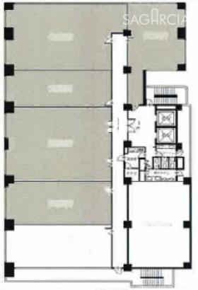 第15三ツ木ビル:基準階図面