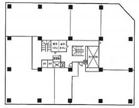 オフィスコオフィス信濃町:基準階図面