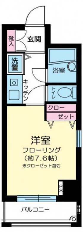 ネオアージュ八丁堀:基準階図面
