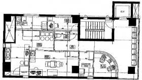 八丁堀医療ビル:基準階図面