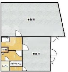 大塚共栄ビル:基準階図面