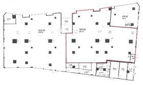 京急平和島高架下事務所ビル:基準階図面