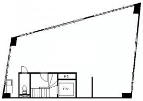 川瀬ビル:基準階図面