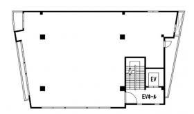 仮)栄月ビル:基準階図面