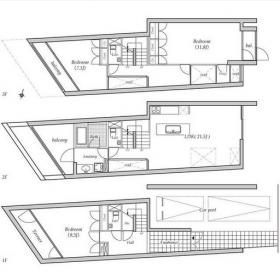 神宮前2丁目HOUSE:基準階図面
