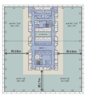 仮)神田錦町二丁目計画:基準階図面