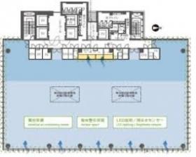 恵比寿ファーストスクエアビル:基準階図面
