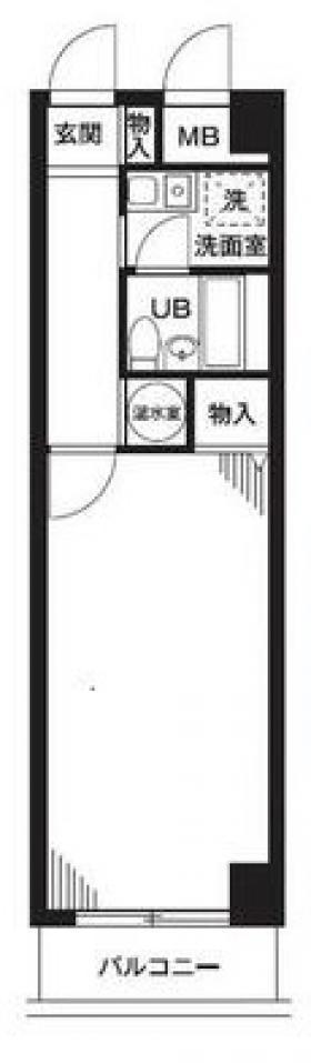 キャピタルハイツ神楽坂:基準階図面