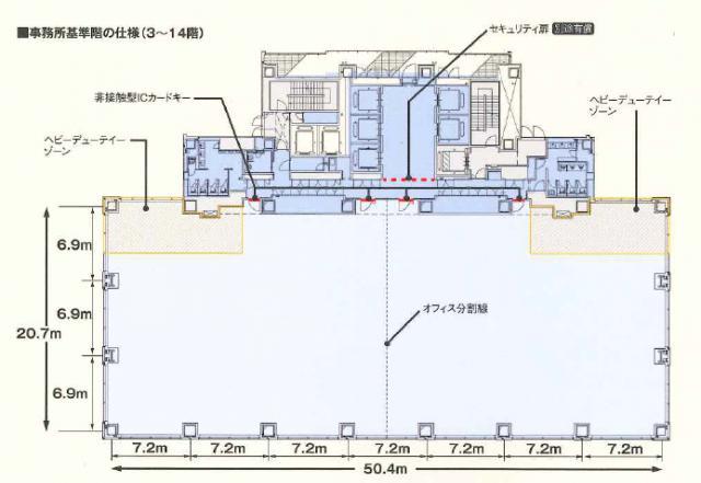Shinagawa HEART(旧:HATO BUS KONAN)ビル 3F 337坪(1114.04m<sup>2</sup>) 図面
