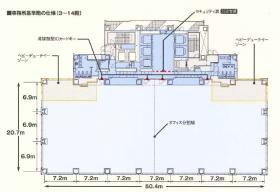 Shinagawa HEART(旧:HATO BUS KONAN)ビル:基準階図面