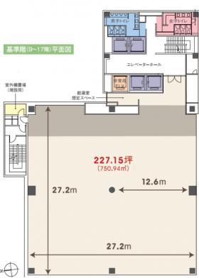 G-BASE田町(芝5丁目プロジェクト):基準階図面