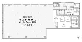 PMO東新橋ビル:基準階図面