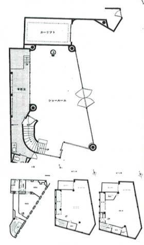 第三京浜出口店舗ビル:基準階図面
