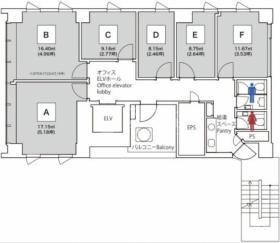 エキスパートオフィス渋谷ビル:基準階図面